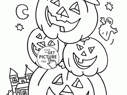 440x330 Download Coloring Pages Childrens Halloween Coloring