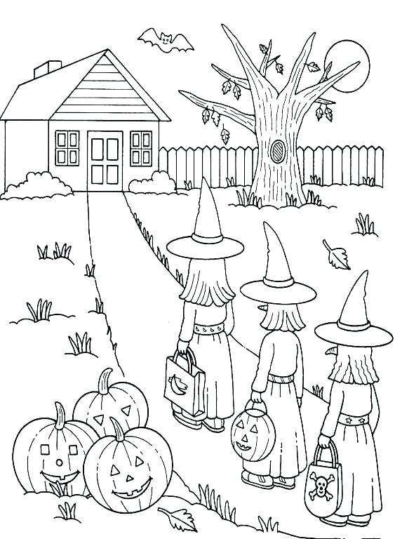 563x768 Preschool Halloween Coloring Pages Coloring Pages For Kids Free