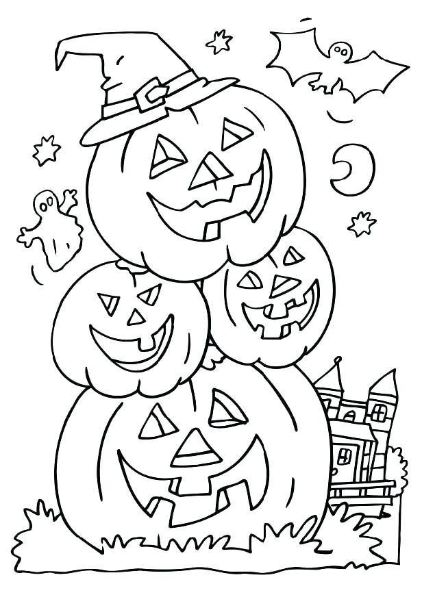 616x872 Detailed Halloween Coloring Pages