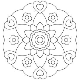 268x268 Kids Mandala Coloring All About Coloring Pages
