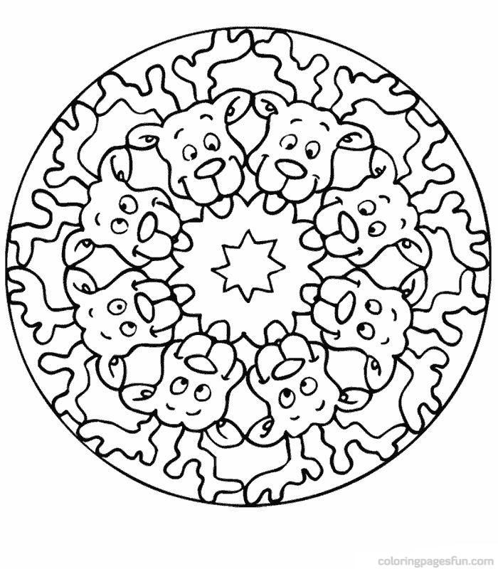 700x800 Kids Mandala Coloring Pages Free Printable Mandalas For Kids Best