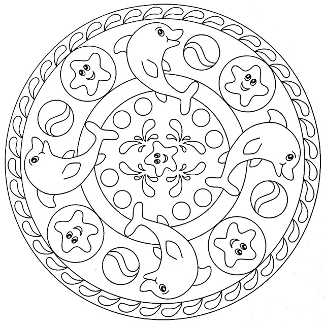 640x640 Mandala Coloring Pages For Kids Mandala Pictures To Color