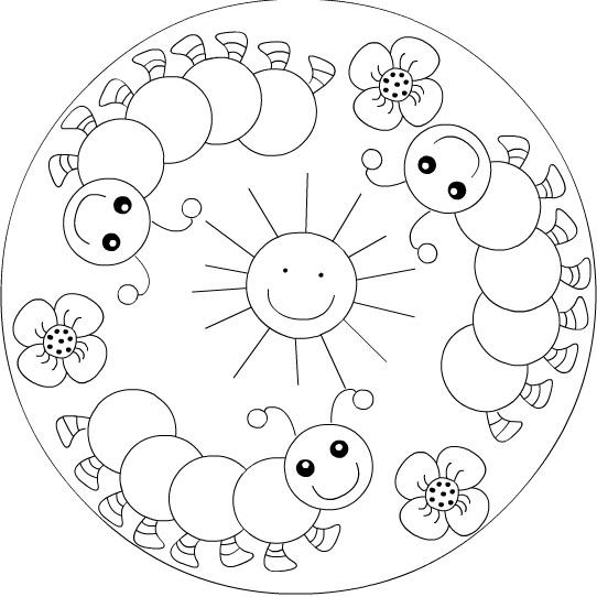 542x542 Mandala Coloring Pages Kids Mandala Printable Coloring Pagesfree