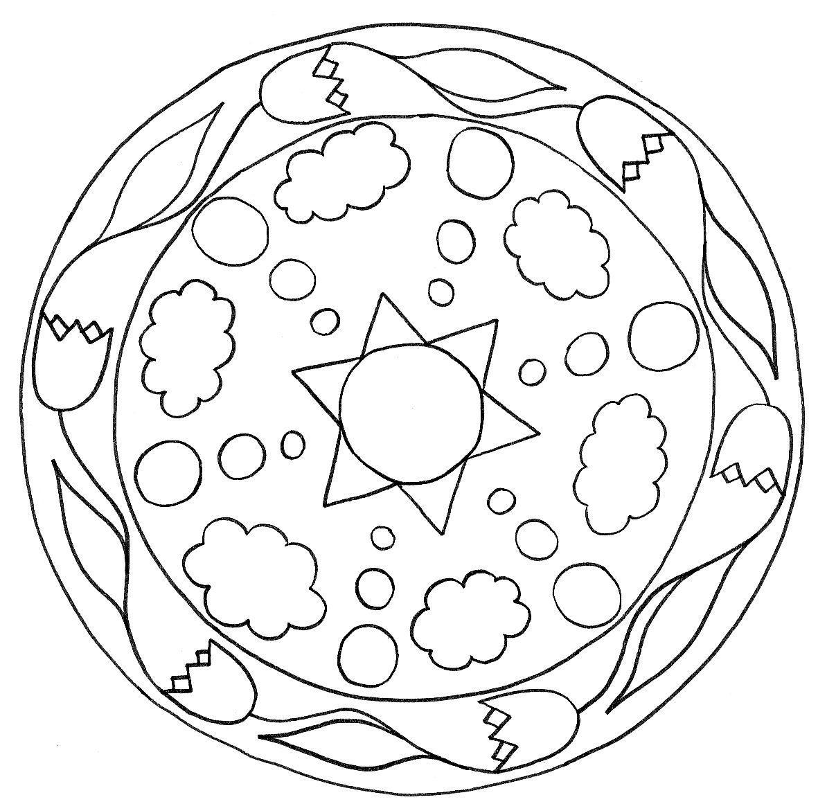 1181x1161 Astonishing Mandala Clipart For Kids Image Coloring Pages Ideas
