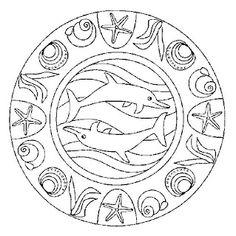 236x236 Sea Animal Mandala Coloring
