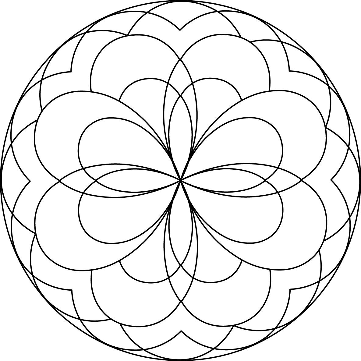 1185x1185 Awesome Mandalas For Children Free Coloring Pages Download