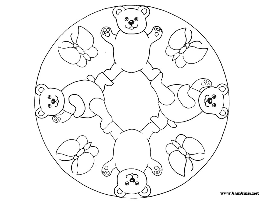 900x675 Easy Mandala Coloring Page For Children H M Coloring Pages In Kids