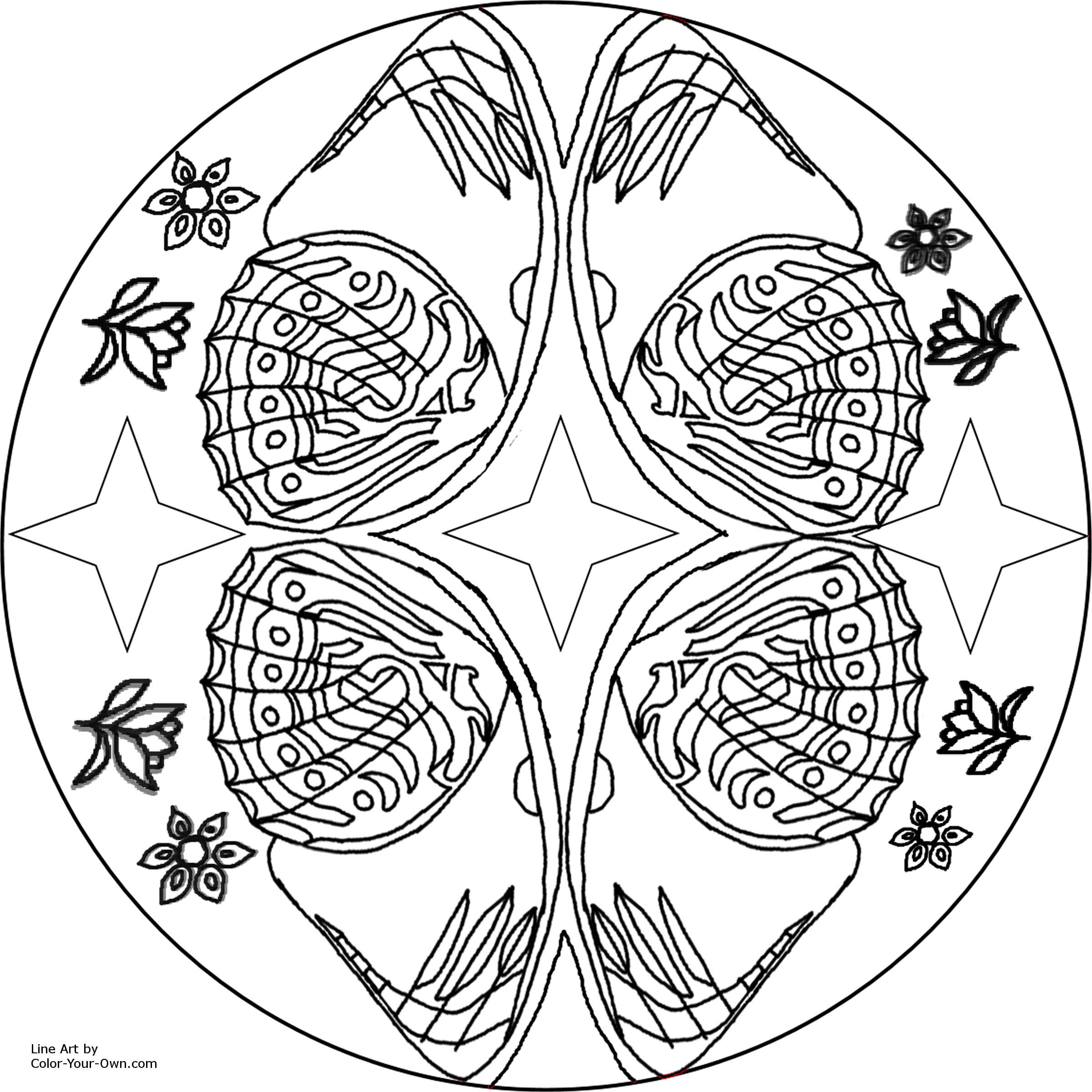 2400x2400 Free Printable Mandalas For Adults Kids Printable Butterfly