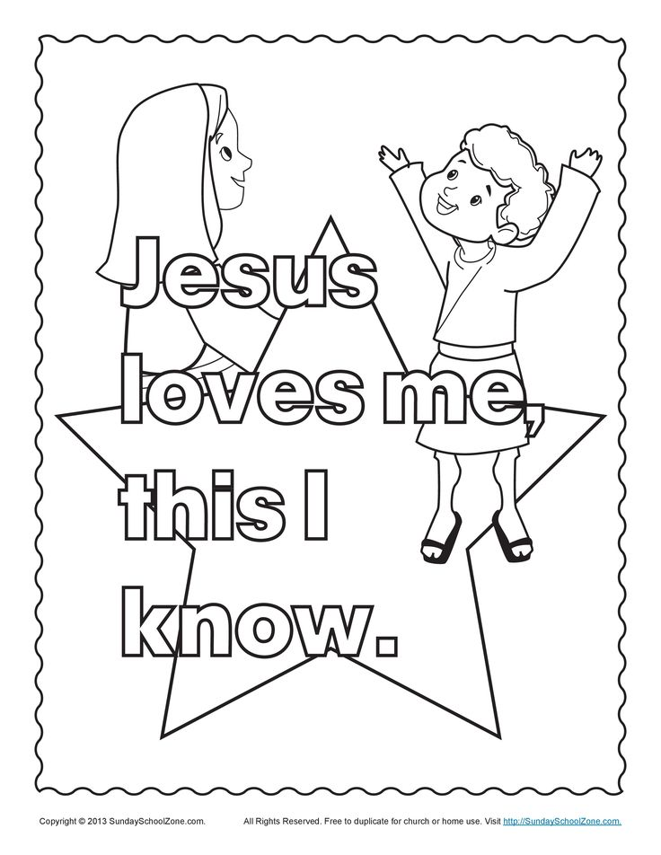 Childrens Religious Coloring Pages