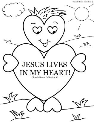 315x408 Valentine S Day Coloring Page For Sunday School Jesus Lives In My