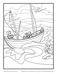 200x257 Bible Coloring Pages Paul's Shipwreck