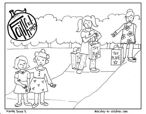 500x391 Faithfulness The Coloring Page Bible Fruit