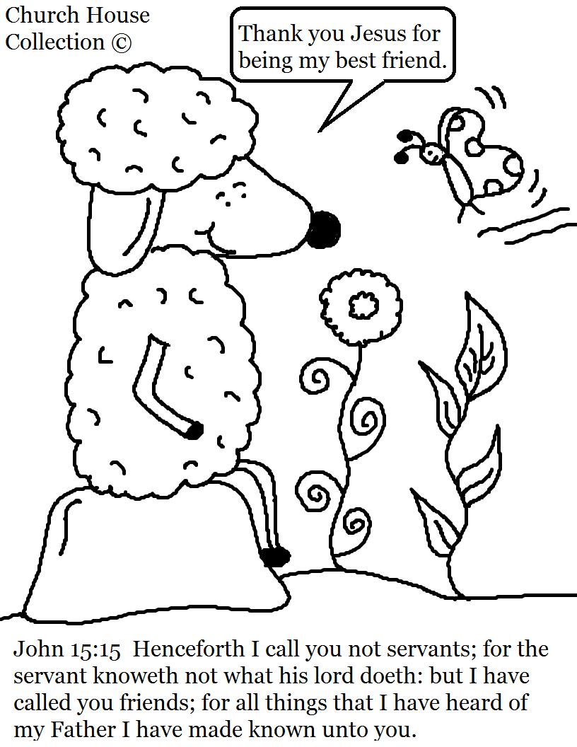 816x1056 John Sheep Coloring Page