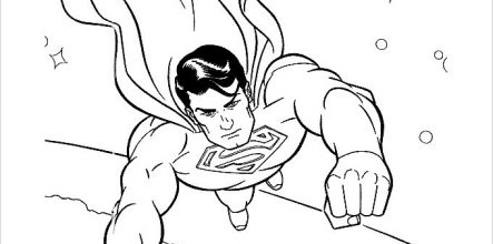 443x220 Superhero Coloring Pages For Kids