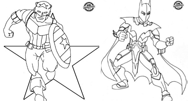 650x350 Superhero Coloring Pages For Kids A Pack Of Free Boys Vitlt Com