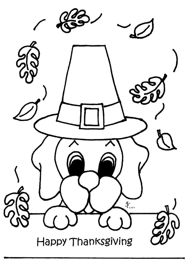 Childrens Thanksgiving Coloring Pages