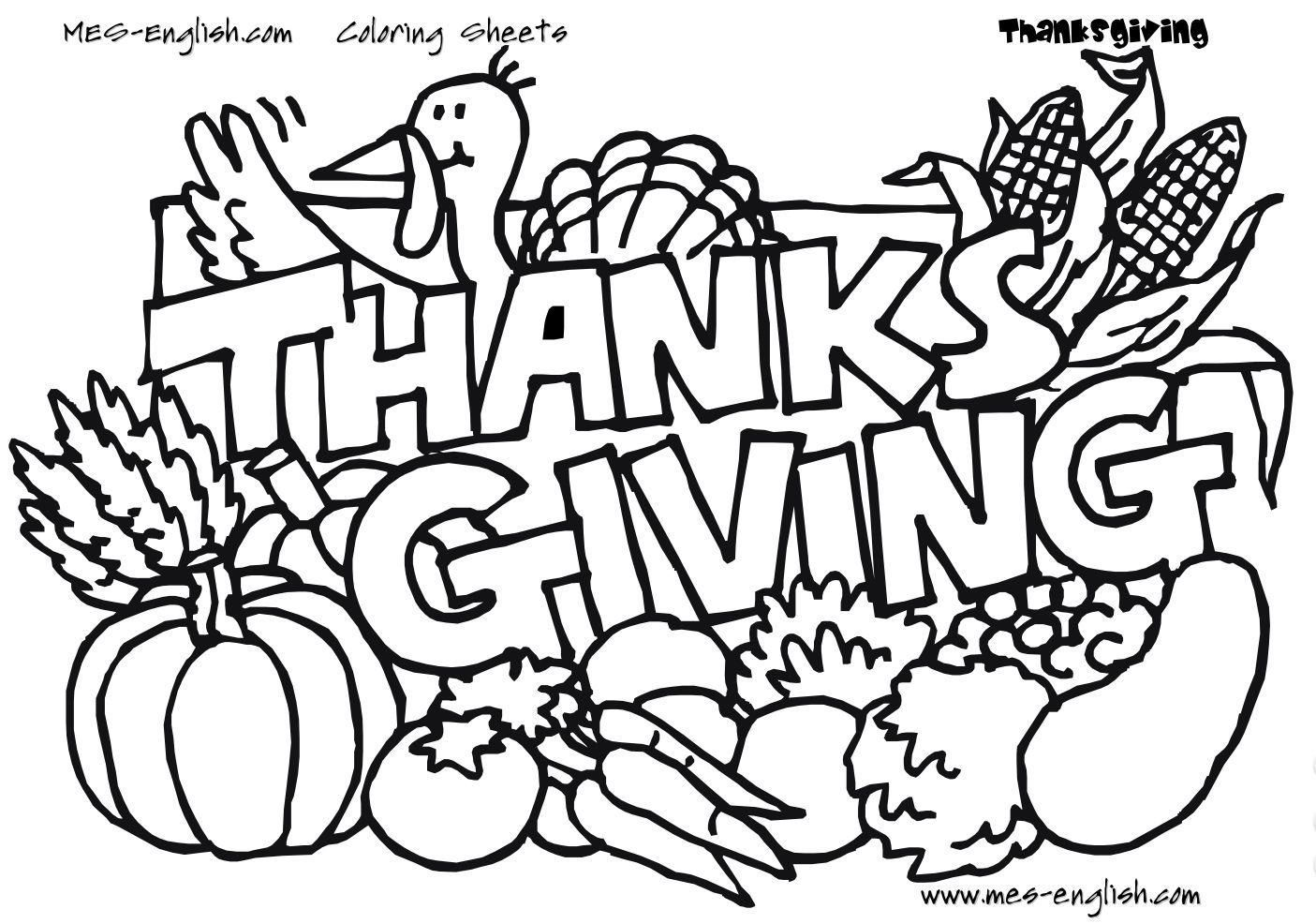 1405x986 Coloring Pages Kindergarten Thanksgiving Coloring Sheet