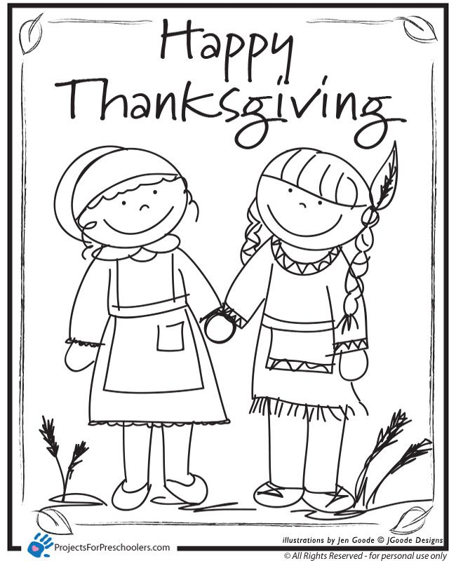 650x800 Free Printable Preschool Thanksgiving Coloring Pages Happy