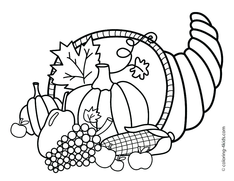 970x751 Thanksgiving Coloring Pages For Preschoolers Preschool