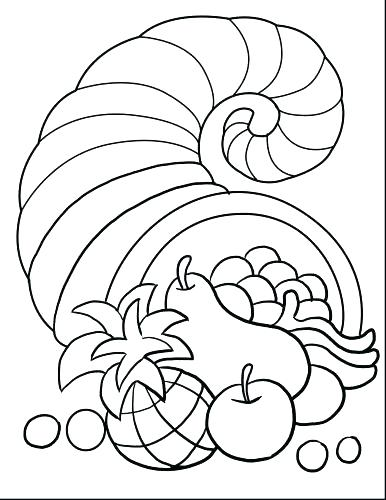 386x500 Thanksgiving Coloring Pages Printables Preschool Thanksgiving