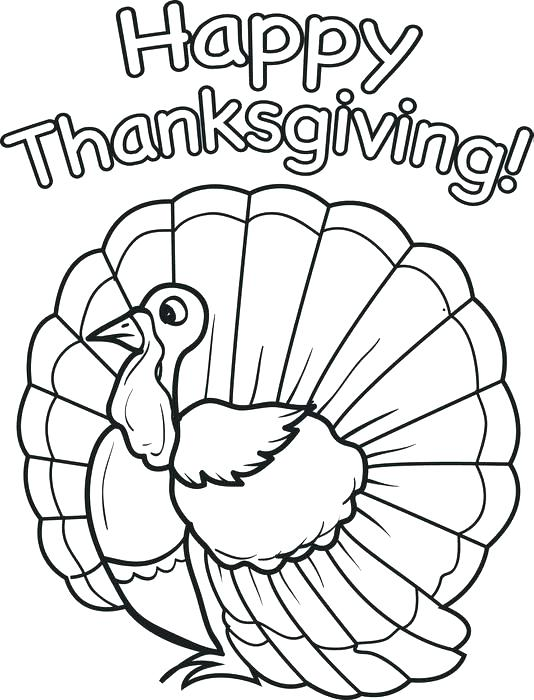534x700 Thanksgiving Coloring Pages For Kindergarten