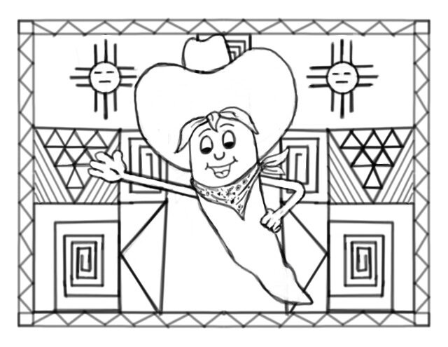 640x495 New Mexico Chile Pepper' Coloring Page The Digital