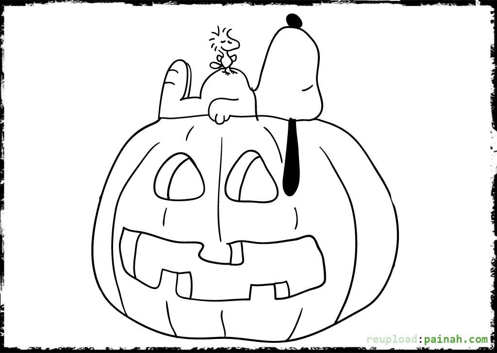 1024x728 Snoopy Halloween Coloring Pages Snoopy Halloween Coloring Pages