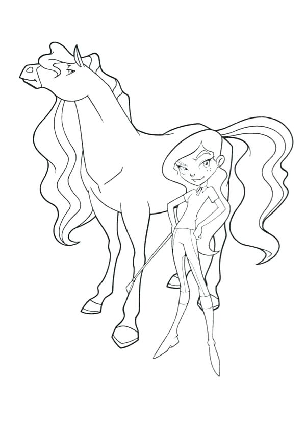 600x834 Horse Coloring Pages Coloring Pages The Evil And Her Horse Chili