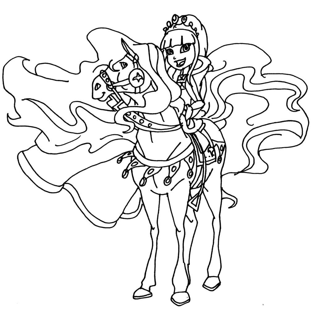 1024x1011 Horseland Coloring Pages Great H Kitten Chili Zoey And Pepper