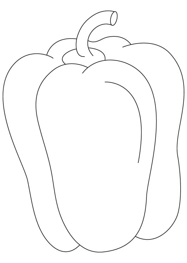 613x860 Green Pepper Coloring Pages