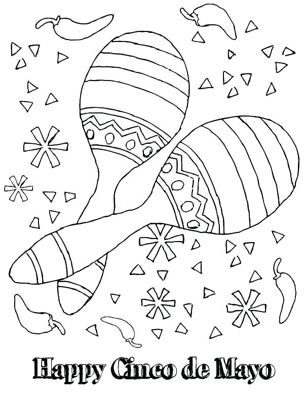 600x776 Maracas Coloring Pages Download Mariachi Chilli Pepper