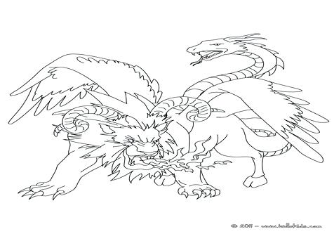 476x333 Mythological Animal Coloring Pages Monsters Fabulous Creatures