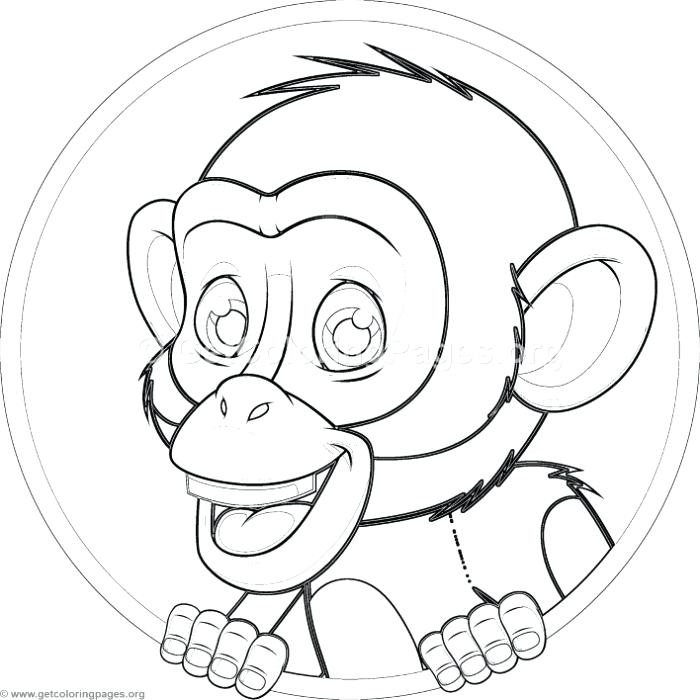 700x700 Chimpanzee Coloring Page Cute Baby Pages