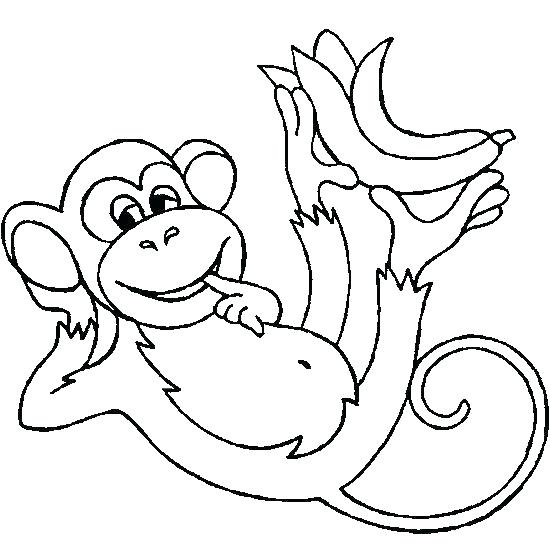 550x550 Chimpanzee Coloring Pages Printable Chimpanzee Coloring Page