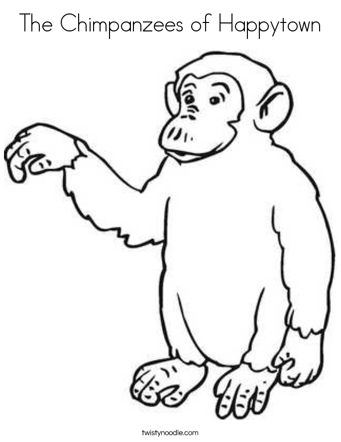 685x886 The Chimpanzees Of Happytown Coloring Page