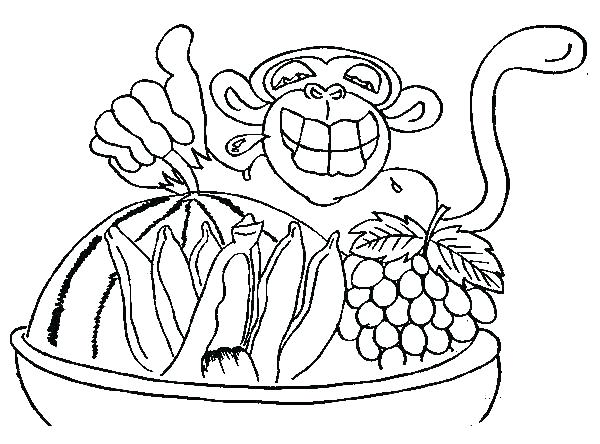 600x444 Chimpanzee Coloring Pages