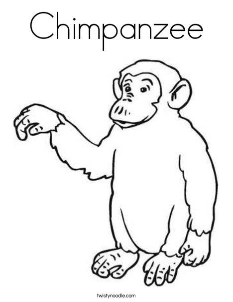 468x605 Chimpanzee Coloring Page