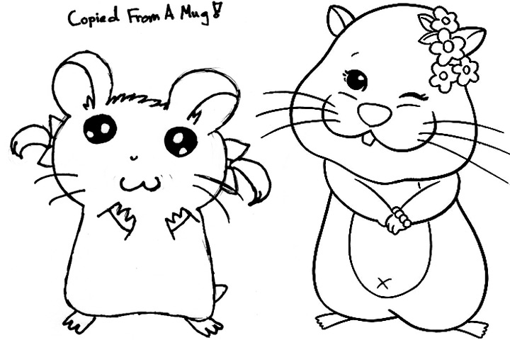 720x480 Hamster Coloring Pages