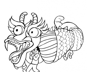 Chinese Culture Coloring Pages