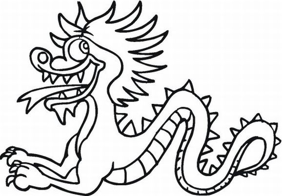 578x402 Chinese Dragon Pictures To Colour Chinese Dragon Coloring Pages