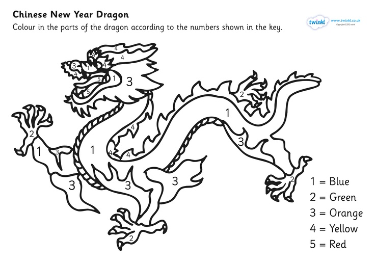 736x520 Chinese Dragon Pictures To Colour Chinese New Year Colouring