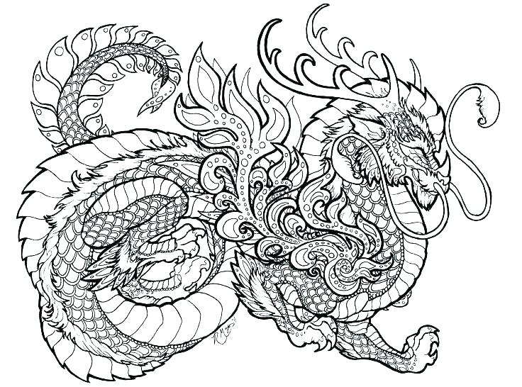 736x546 Chinese New Year Dragon Coloring Page Dragon Coloring Pages