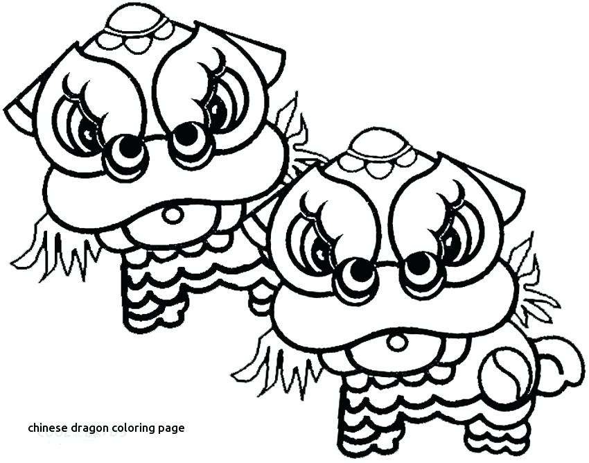 850x668 Chinese New Year Dragon Coloring Page New Year Coloring Pages