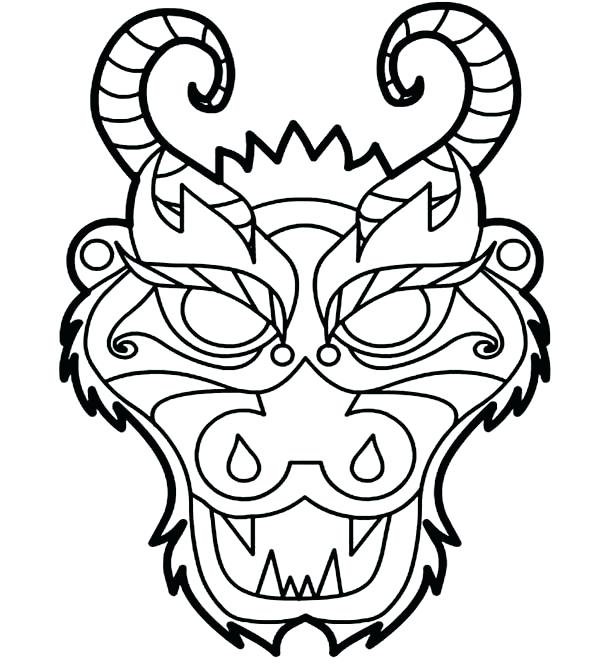 600x671 China Coloring Pages China Flag Coloring Page Chinese Dragon