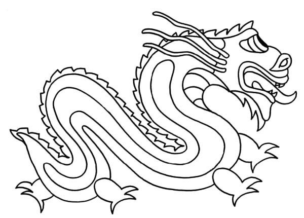 600x430 The Legend Of Chinese Dragon Coloring Pages