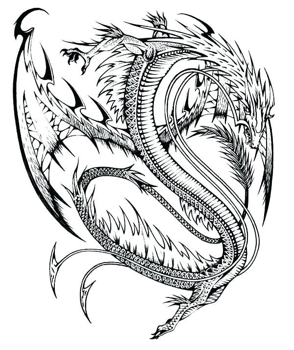 600x713 Chinese Dragon Coloring Pages