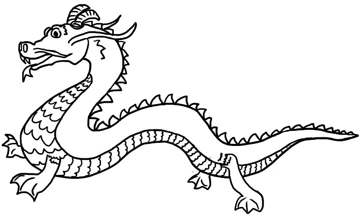 image relating to Chinese Dragon Printable named Chinese Dragon Coloring Internet pages For Little ones at