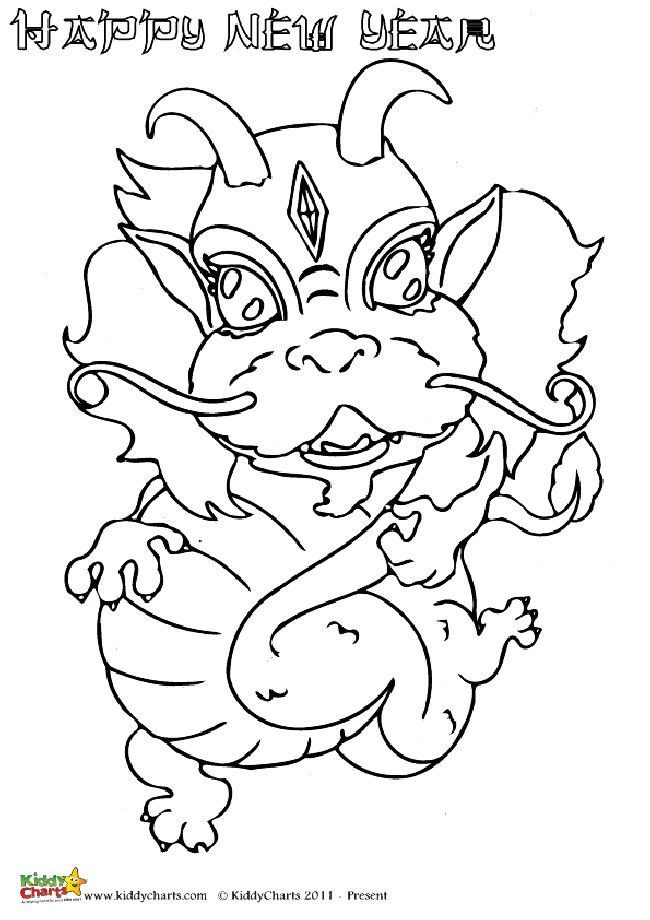 650x920 Chinese Dragons Coloring Pages For Kids