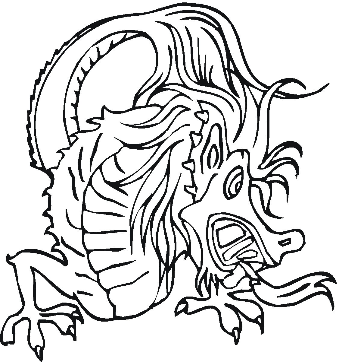 1126x1200 Coloring Pages Dragons New Free Printable Chinese Dragon Coloring