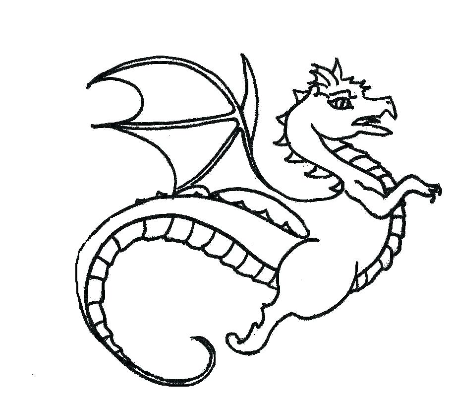 912x812 Dragon Coloring Pages Easy Dragonflies Coloring Pages Printable